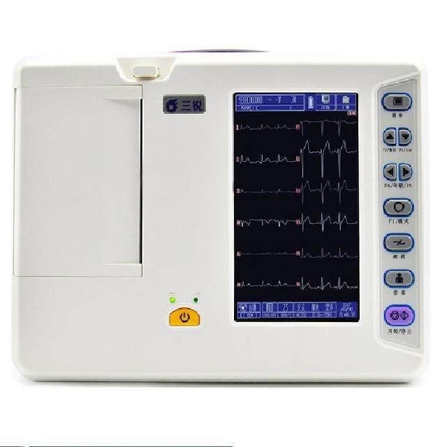 三锐心电图机医用十二道家用专业级自动分析
